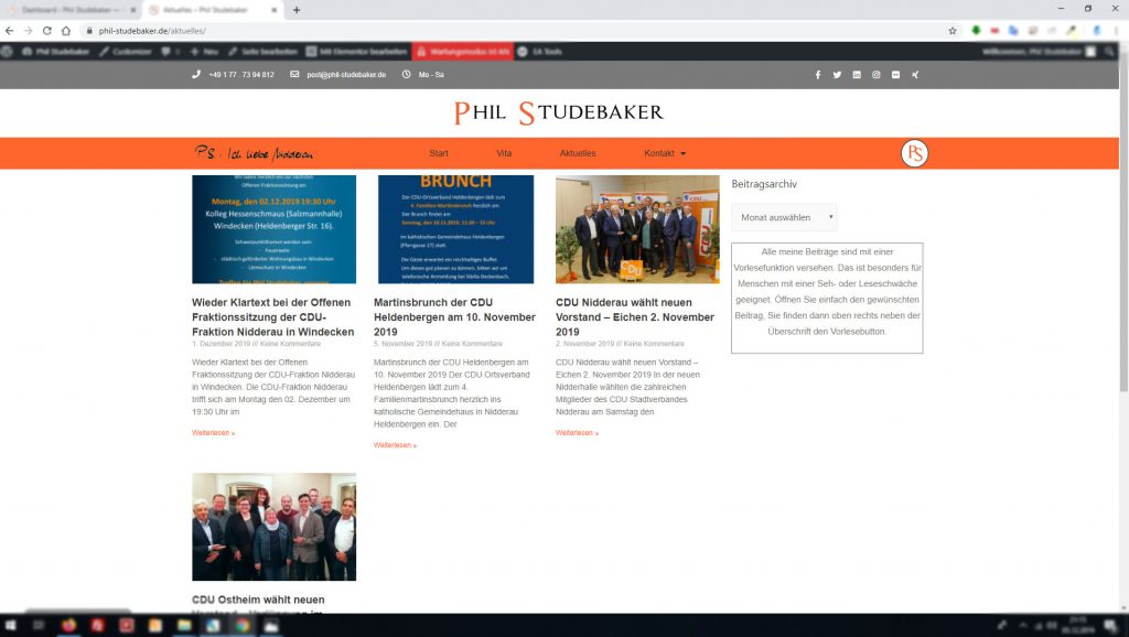 Phil Studebaker Microsite